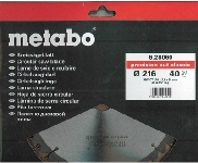 Пильный диск Metabo Precision cut Classic 216х30, Z40